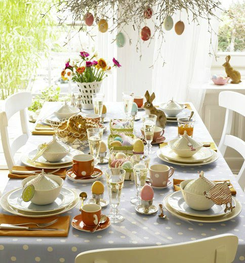 Easter dinner table decorating ideas